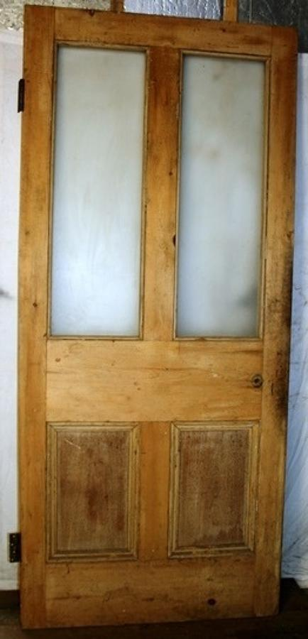 DB0612 A Victorian Pine Door, Suitable for internal or external use