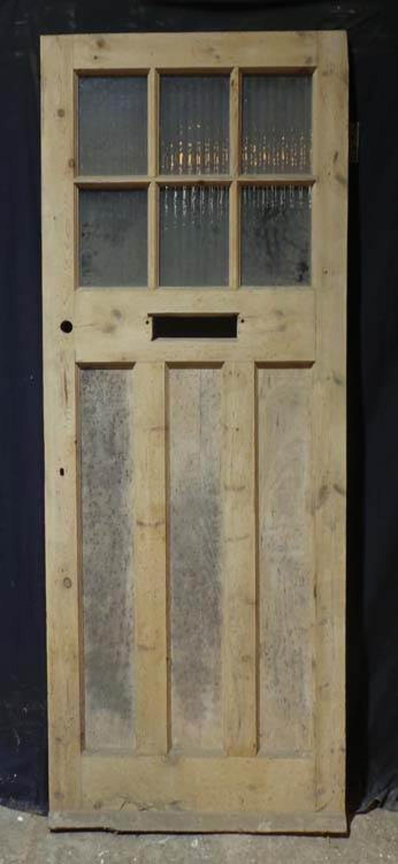 DE0697 LOVELY CLASSIC EDWARDIAN PANELLED PINE DOOR