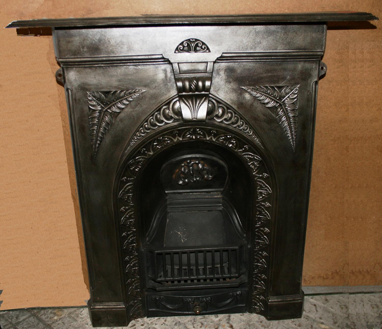 FC0015 A Beautiful Victorian Cast Iron Combination Fireplace, Restored