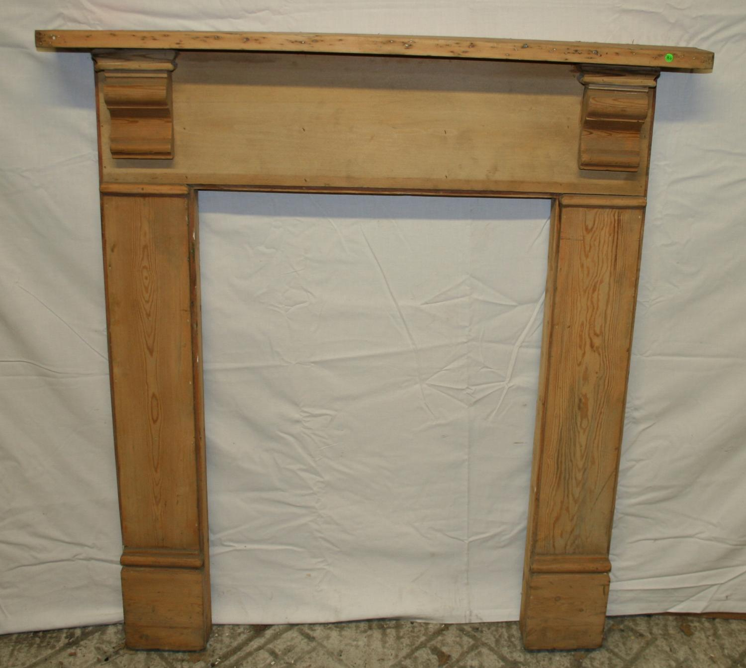 FS0011 A Stripped Pine Fire Surround