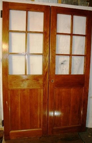 DP0224 A Pair of Edwardian Oak Doors for Glazing