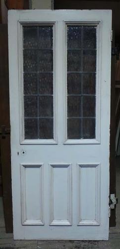 DB0536 A Stylish Edwardian Pine Glazed Door