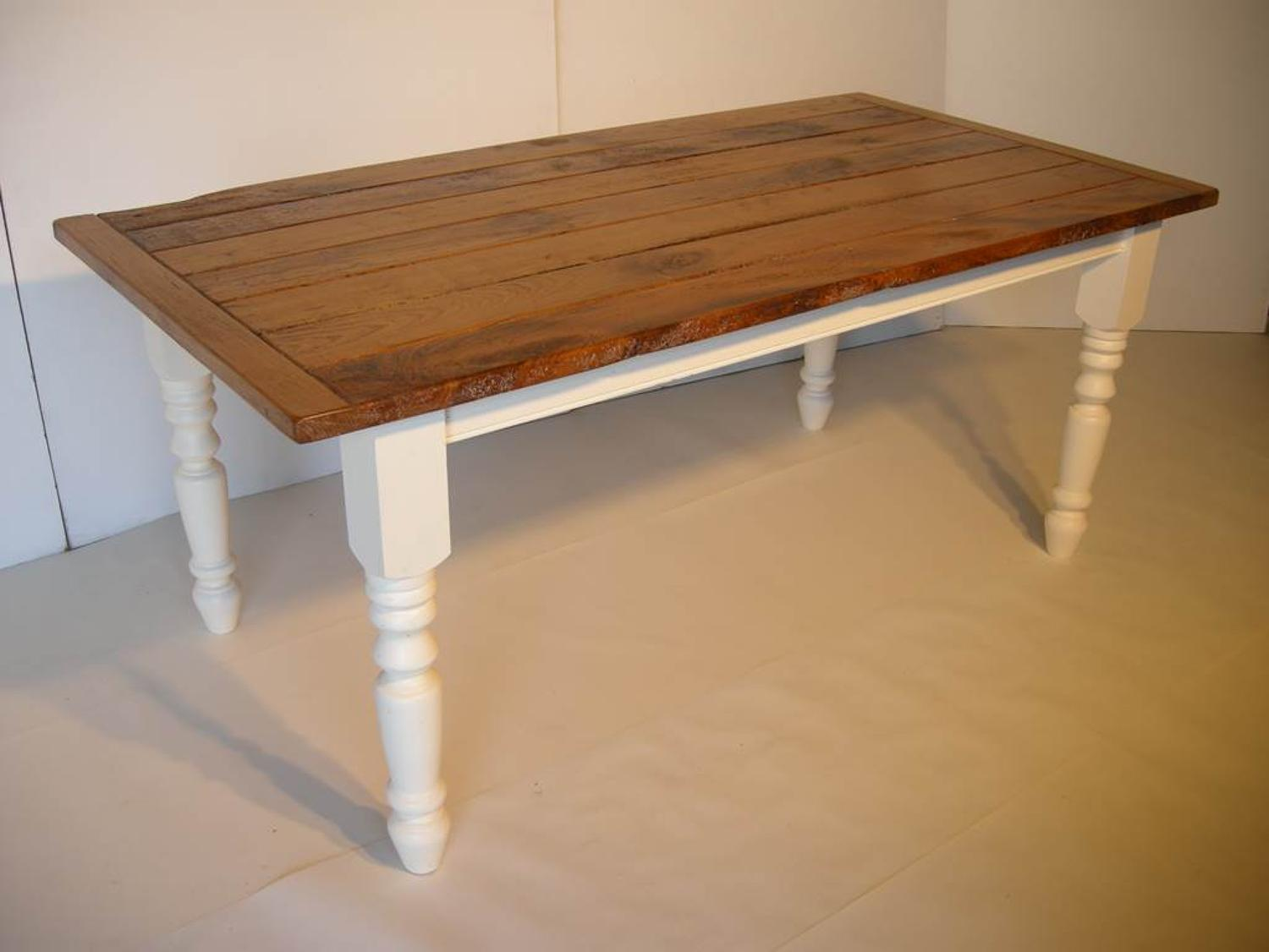 Kitchen Table using new and old wood