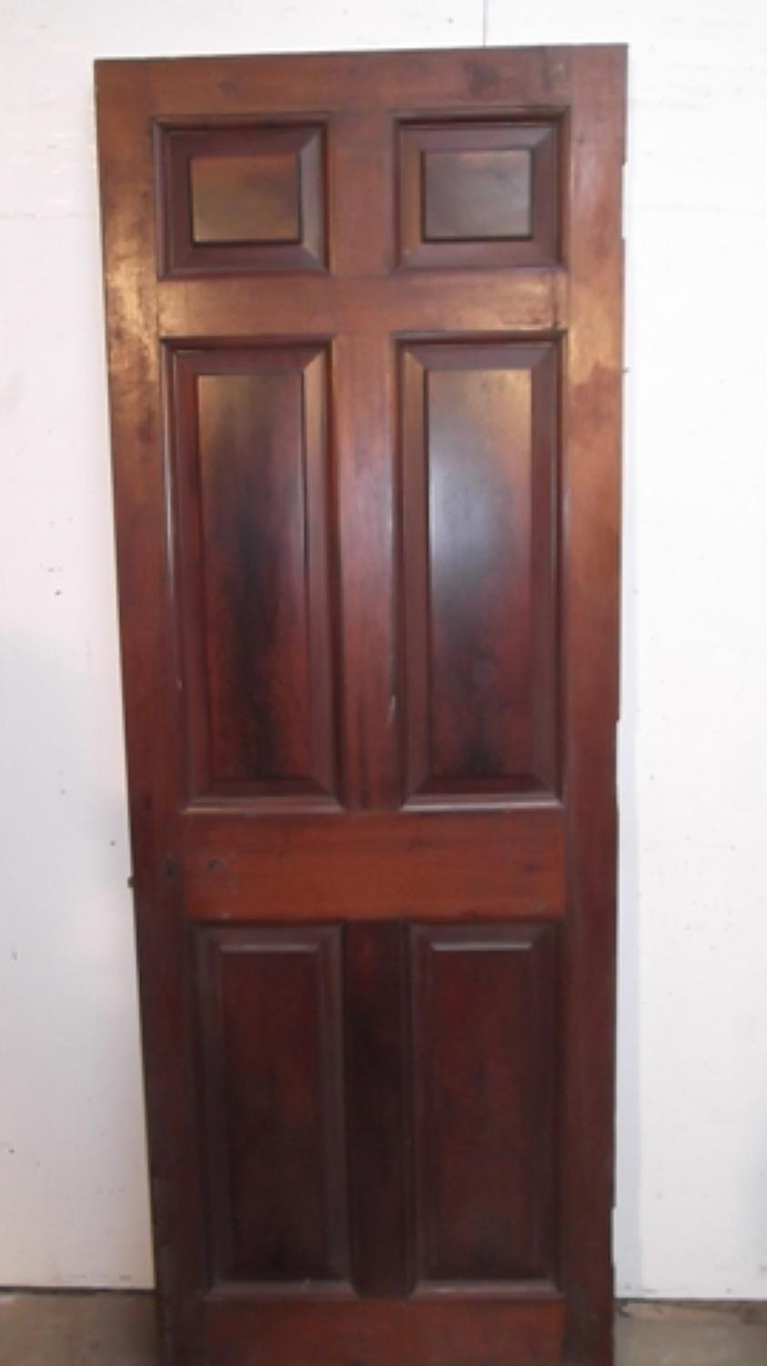 DB0186 Georgian Mahogany 6 Panel Door with Fielded Panels
