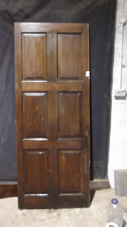 DB0210 A Georgian, Oak Library Door
