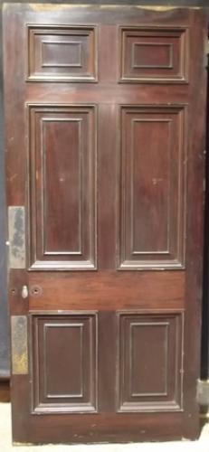 DB0216 A Very Grand, Victorian, Mahogany Veneered Pine Door