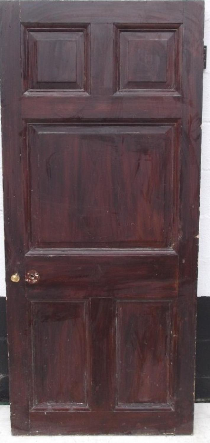 DB0224   A Georgian Style, 5 Panelled, Pine Door, for internal or external use.