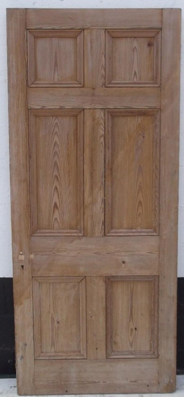 DB0225 A Victorian Pine, 6 panelled, Internal or External Door c.1860