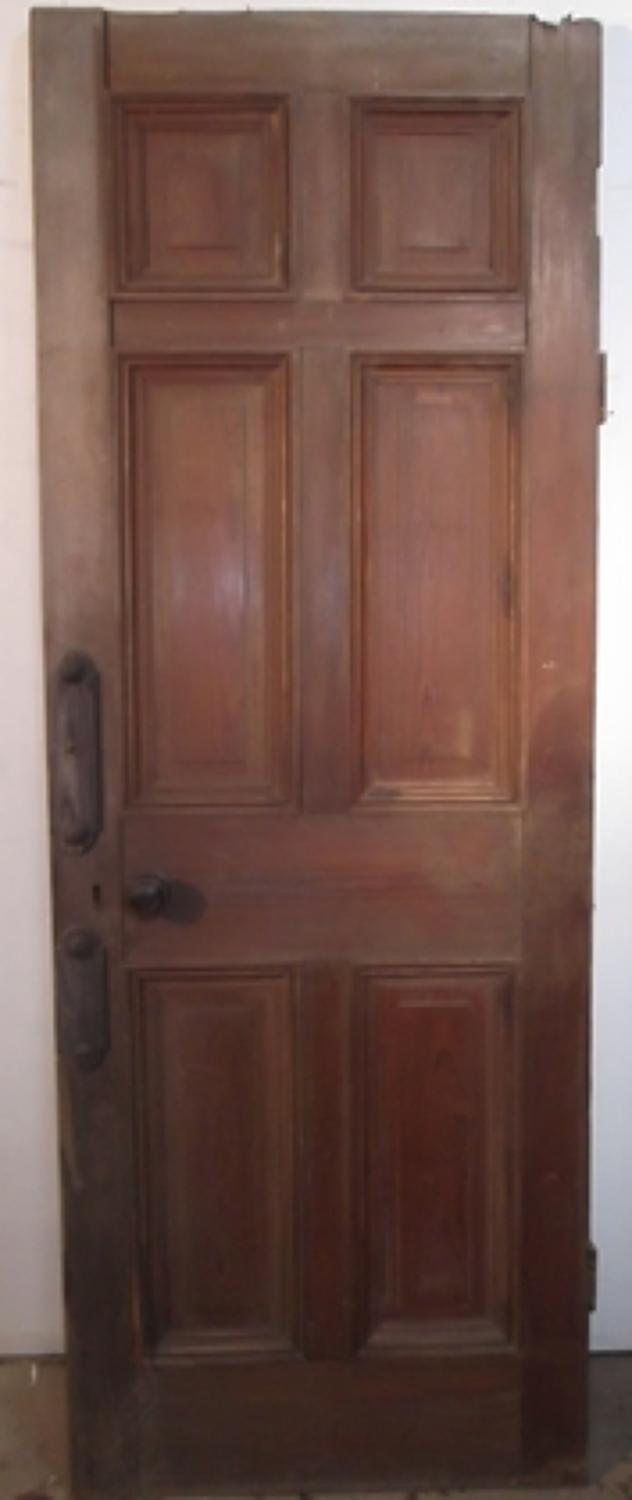 DB0233 A Victorian Pitch Pine door for Internal or External Use