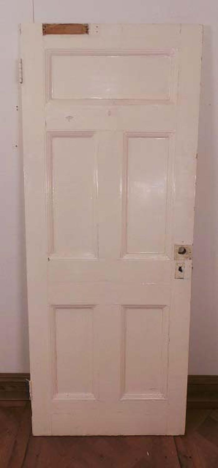 DB0311 A STURDY VICTORIAN PINE DOOR SUITABLE FOR INTERNAL OR EXTERNAL