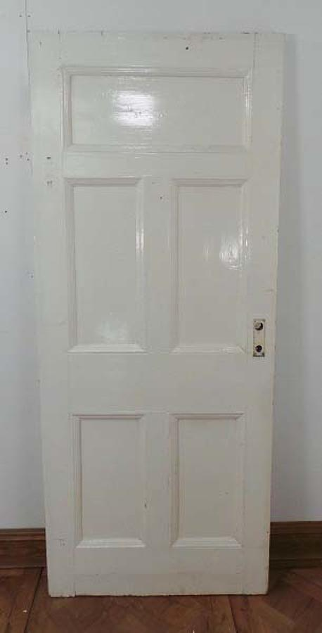 DB0313 A STURDY VICTORIAN PINE DOOR SUITABLE FOR INTERNAL OR EXTERNAL