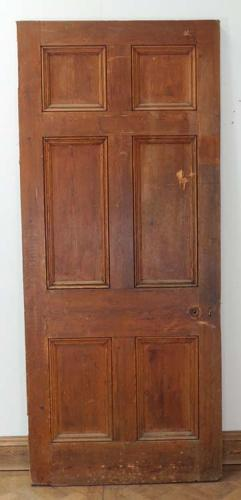 DB0340 LOVELY VICTORIAN PINE 'GEORGIAN' STYLE 6 PANEL DOOR
