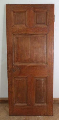 DB0344 STUNNING & UNUSUAL EDWARDIAN SOLID OAK PANELLED DOOR