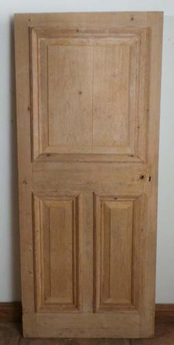 DB0362 LOVELY ORIGINAL VICTORIAN PANELLED PINE DOOR
