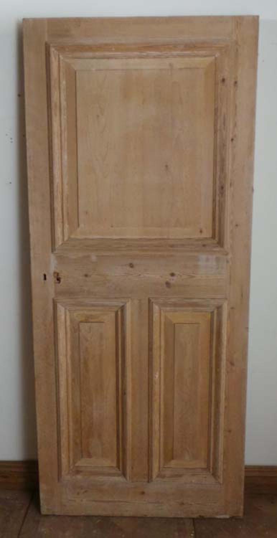 DB0363 LOVELY ORIGINAL VICTORIAN PANELLED PINE DOOR