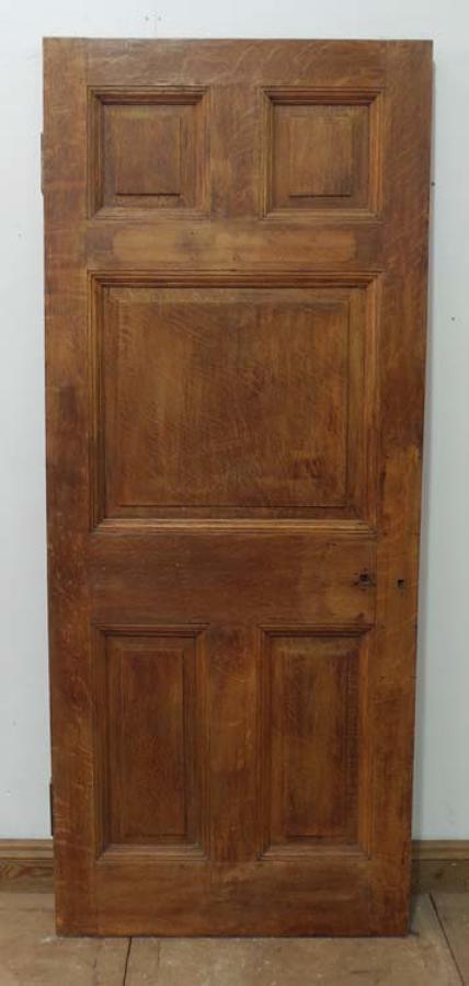 DB0365 STUNNING & UNUSUAL VICTORIAN SOLID OAK PANELLED DOOR
