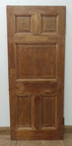 DB0367 STUNNING & UNUSUAL VICTORIAN SOLID OAK PANELLED DOOR