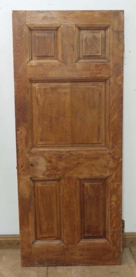 DB0368 STUNNING & UNUSUAL VICTORIAN SOLID OAK PANELLED DOOR