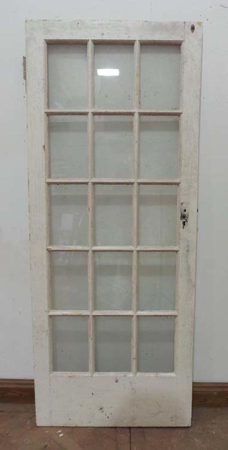 DB0388 ORIGINAL EDWARDIAN PINE GLAZED DOOR