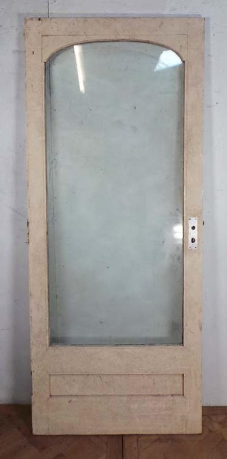 DB0392 A VICTORIAN HARDWOOD GLAZED DOOR FOR INTERNAL OR EXTERNAL USE