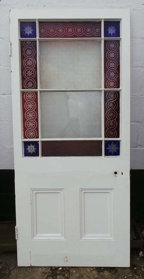 DB0399 LOVELY VICTORIAN PINE 'CARDIFF' STYLE DOOR