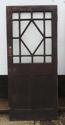 DB0400 AN INTERESTING EARLY EDWARDIAN OAK GLAZED DOOR - picture 1