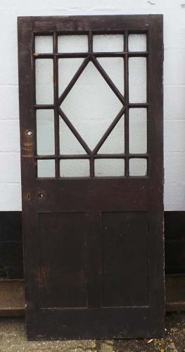 DB0400 AN INTERESTING EARLY EDWARDIAN OAK GLAZED DOOR