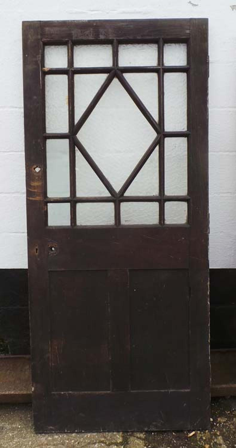 DB0400 AN INTERESTING EARLY EDWARDIAN OAK GLAZED DOOR