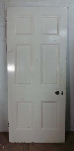 DB0410 LOVELY VICTORIAN SIX PANELLED PINE DOOR