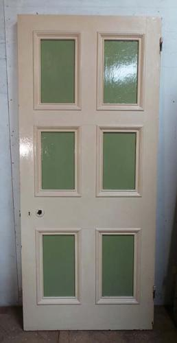 DB0414 LOVELY VICTORIAN SIX PANELLED PINE DOOR