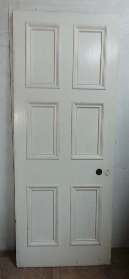 DB0415 LOVELY VICTORIAN SIX PANELLED PINE DOOR