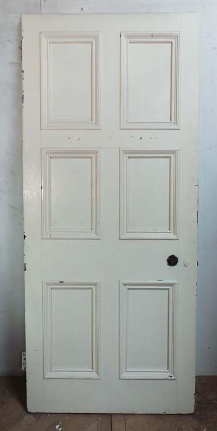 DB0416 LOVELY VICTORIAN SIX PANELLED PINE DOOR