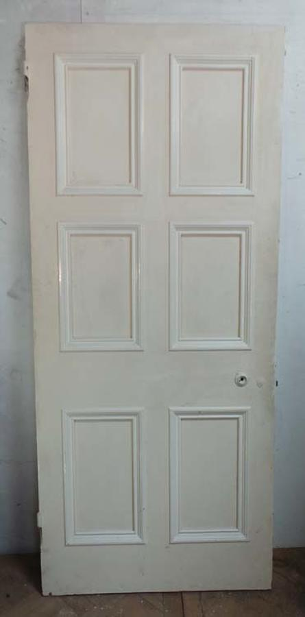 DB0417 LOVELY VICTORIAN SIX PANELLED PINE DOOR