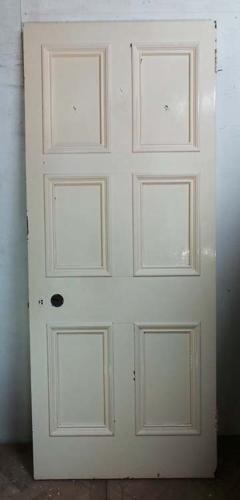 DB0418 LOVELY VICTORIAN SIX PANELLED PINE DOOR