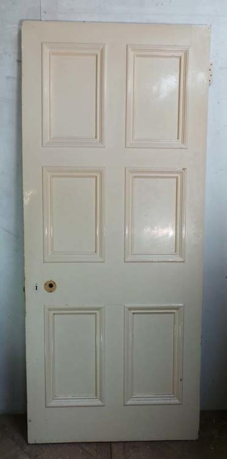 DB0419 LOVELY VICTORIAN SIX PANELLED PINE DOOR