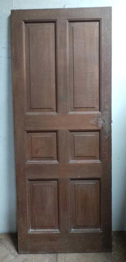 DB0420 AN INTERESTING 6 PANEL OAK DOOR