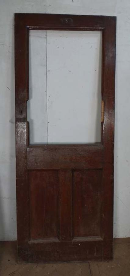 DB0424 EDWARDIAN SOLID OAK RAILWAY DOOR FOR GLAZING