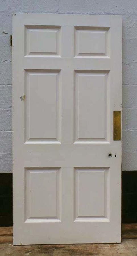 DB0440 LOVELY VICTORIAN SIX PANELLED PINE DOOR