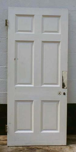 DB0441 LOVELY VICTORIAN SIX PANELLED PINE DOOR