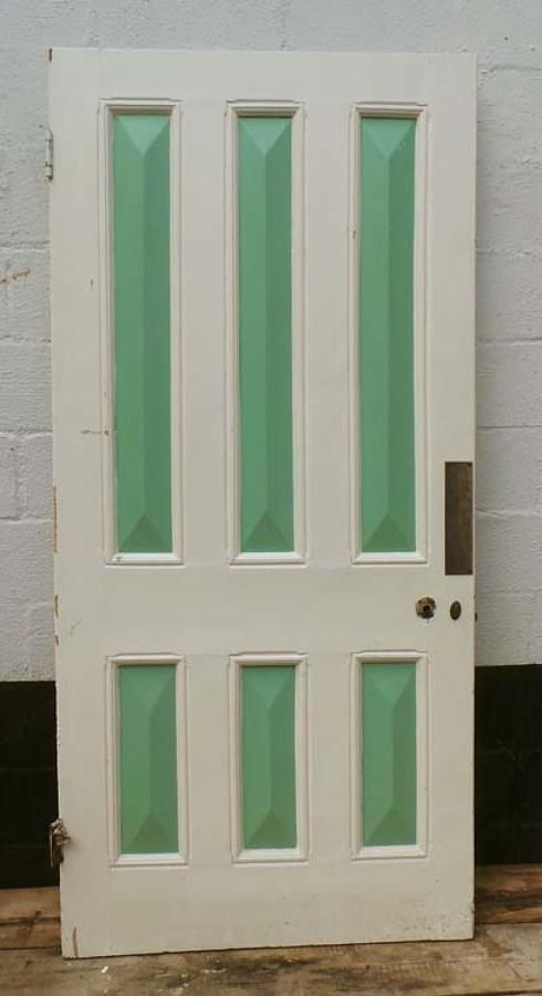 DB0443 LOVELY VICTORIAN SIX PANELLED PINE DOOR
