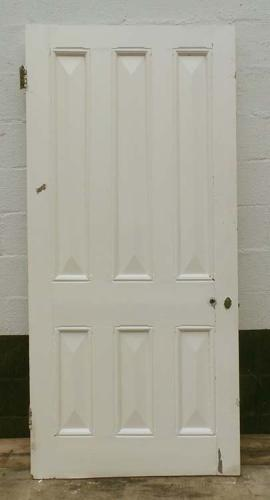 DB0445 LOVELY VICTORIAN SIX PANELLED PINE DOOR
