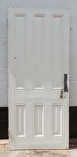 DB0446 LOVELY VICTORIAN SIX PANELLED PINE DOOR