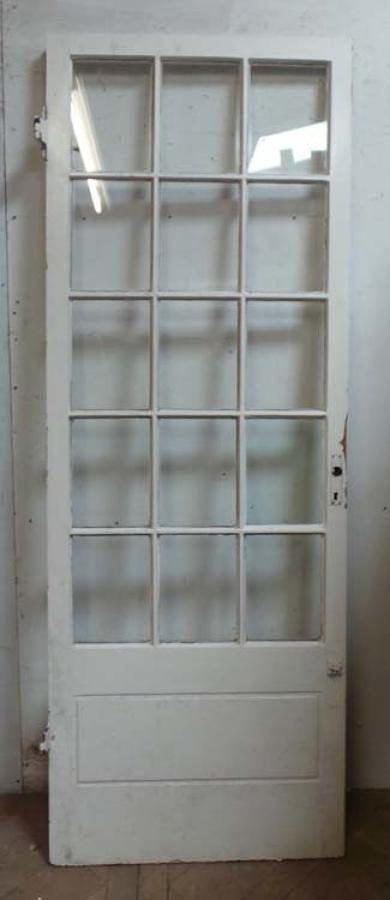 DB0456 STUNNING EDWARDIAN FRENCH MAHOGANY GLAZED DOOR