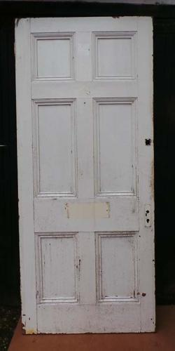 DB0459 LOVELY VICTORIAN SIX PANELLED PINE DOOR