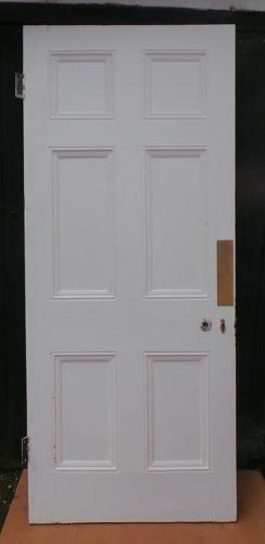 DB0460 LOVELY VICTORIAN SIX PANELLED PINE DOOR