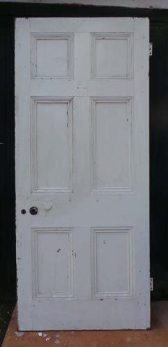 DB0462 LOVELY LARGE VICTORIAN 6 PANELLED PINE DOOR