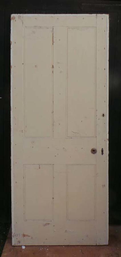 DB0463 LOVELY VICTORIAN PANELLED PINE DOOR