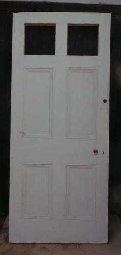 DB0465 LOVELY VICTORIAN SIX PANELLED PINE DOOR