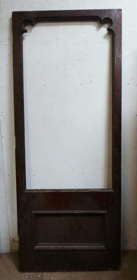 DB0469 LARGE VICTORIAN GOTHIC MAHOGANY DOOR FOR GLAZING