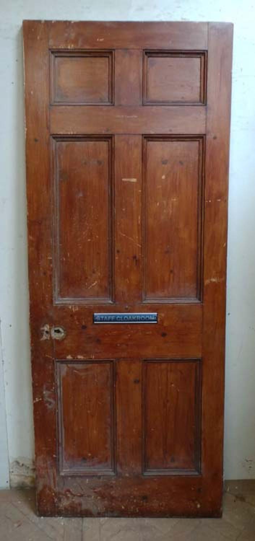 DB0473 VICTORIAN SIX PANELLED PINE DOOR